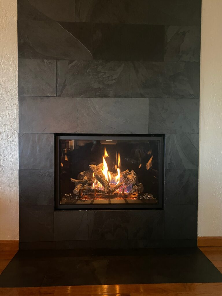 Install gas fireplace
