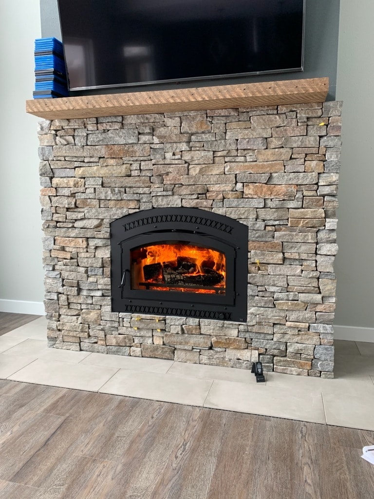 Wood fireplace from Travis Industries