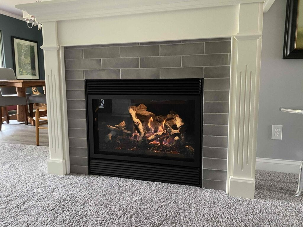 Gas fireplace from Travis Industries