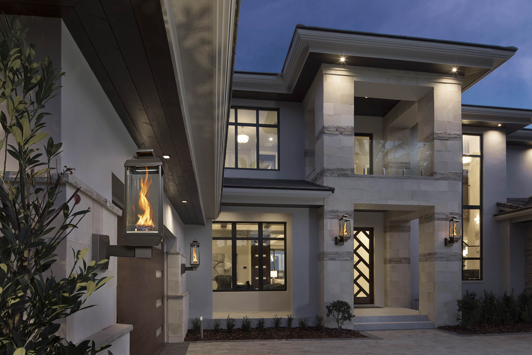 Large, well lit, brutalist styled home.